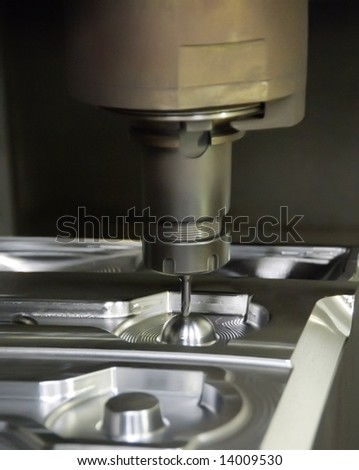 Inside a factory making manufactured goods with steel. - stock photo