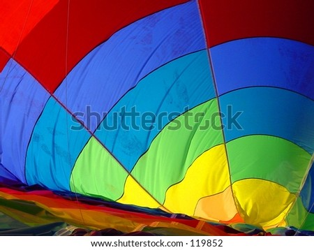 Inside a Hot Air Balloon - stock photo