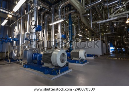 inside a power plant  - stock photo
