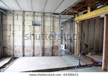 Inside a room under construction