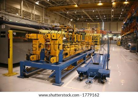 Inside Aerospace Production Facility - stock photo