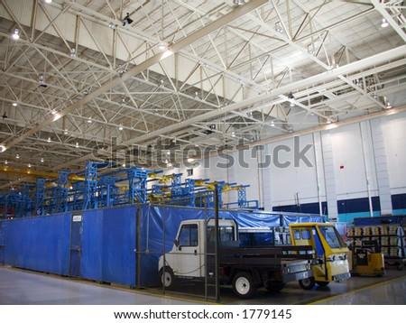 Inside Aerospace Production Facility Shipping - stock photo