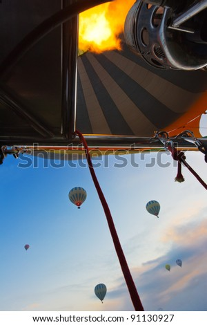 inside air balloon - stock photo