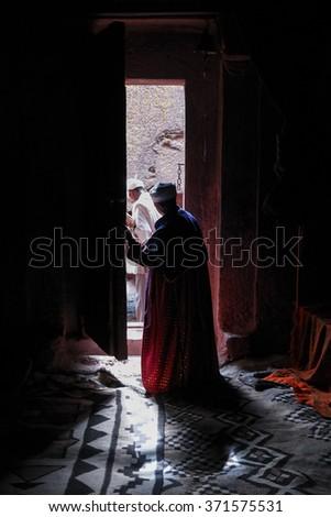 Inside an orthodox church - stock photo
