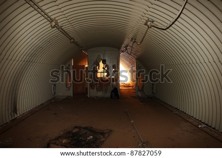 Inside and abandoned bomb shelter / fallout shelter. A Cold War Relic.