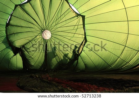 inside balloon - stock photo