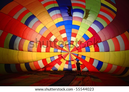 Inside Balloon, Thailand . - stock photo