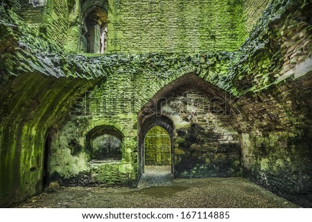 Inside Bolton Castle in North Yorkshire. One of the countries best preserved medieval castles - stock photo