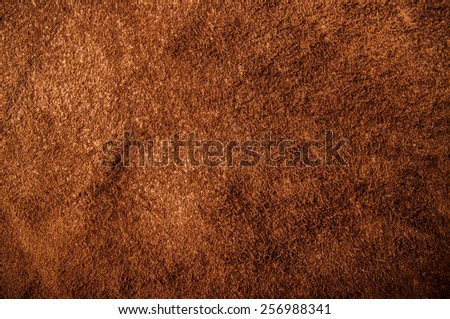 Inside Brown Leather for Concept and Idea Style of Fine Leather Crafting, Handcrafts Workspace, Handmade, handcrafted, leather worker. Background Textured and Wallpaper. Vintage Rustic. - stock photo