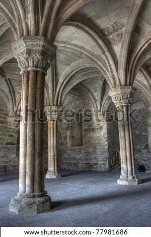Inside Carracedo Monastery , Leon - stock photo
