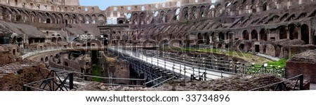Inside Coliseum - stock photo