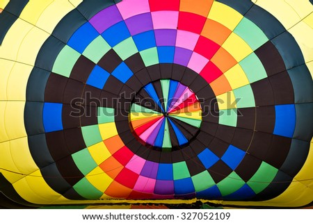 Inside Colors of Hot Air Balloon  - stock photo