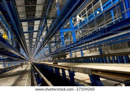 inside factory area - stock photo