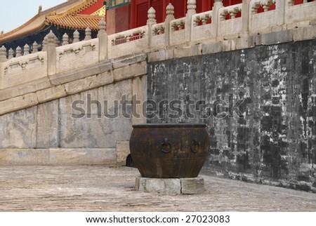 Inside forbidden city - stock photo