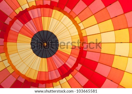 Inside in hot air balloon - stock photo