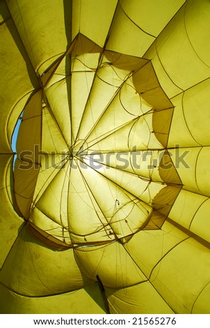 Inside of a hot-air-balloon - stock photo