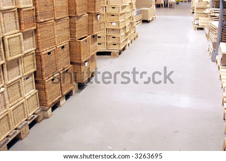 inside of a Warehouse - stock photo