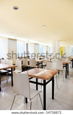 Inside of an Chinese restaurant - stock photo