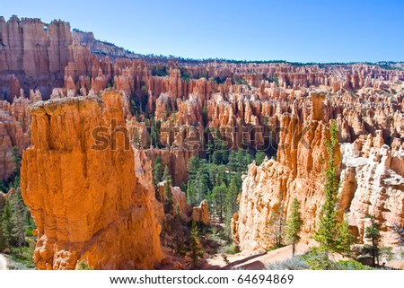 Inside of Bryce Canyon National Park - stock photo