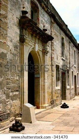 Inside of Marcos National Monument in St. Augustine, FL - stock photo