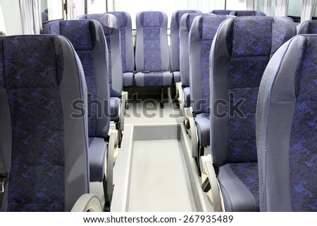 inside of new bus - stock photo