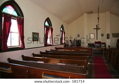 Inside of Old Church - stock photo