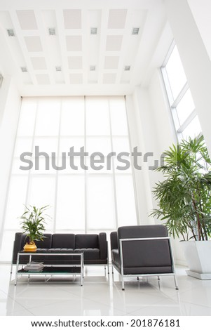 Inside of space in modern office - stock photo