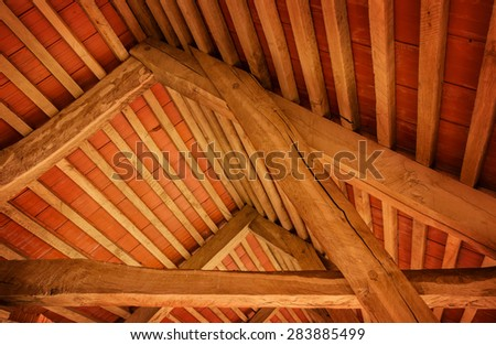 inside of the attic - stock photo