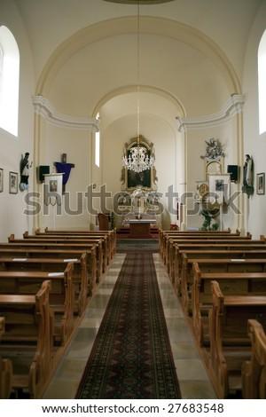 Inside of the church in Lipot, Hungary - stock photo