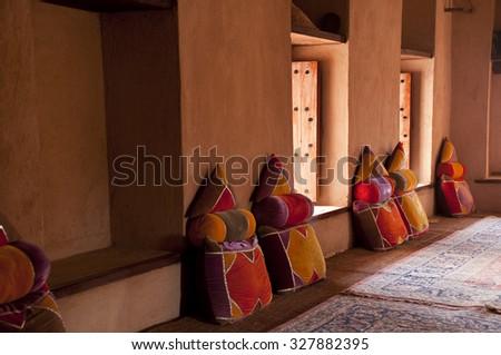 Inside of the Nizwa Fort in Nizwa, Oman - stock photo