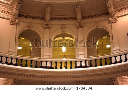 inside of the Texas State Capitol Building in downtown Austin, Texas. - stock photo