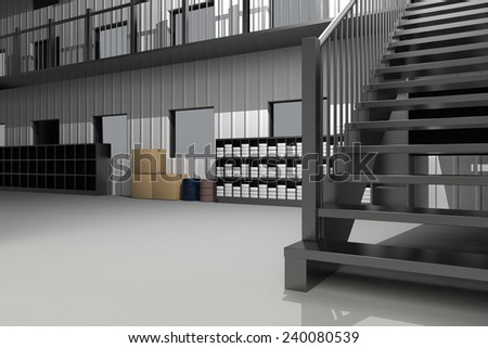 Inside of the warehouse - stock photo