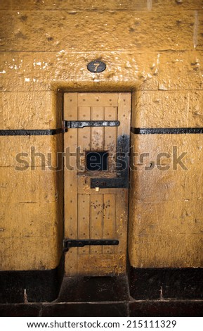 inside old jail in melbourne now museum - stock photo