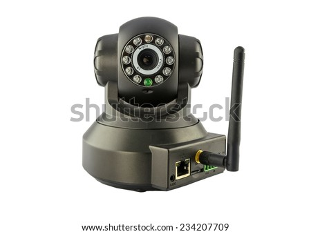 inside security cameras cover multiple angles. - stock photo