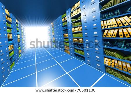 Inside server - stock photo