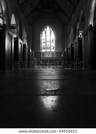 inside St Luke C Of E church  in Chiddingstone, Edenbridge in Kent england - stock photo