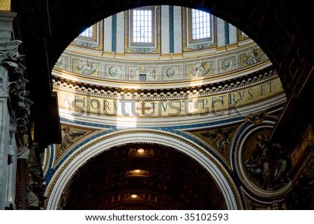 Inside St Peter basilica - stock photo