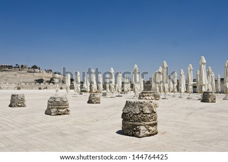 Inside Temple Mount - stock photo
