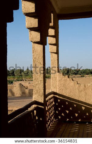Inside the casbah near Sahara, Morocco - stock photo