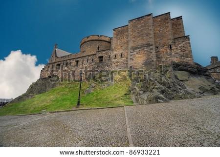 Inside the Edinburgh Castle, Scotland, UK - stock photo
