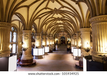Inside the Rathaus (Town hall), Hamburg, Germany - stock photo
