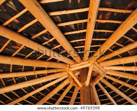 Inside view of a native american hut - stock photo
