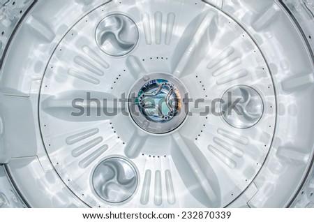 Inside Washing Machine - stock photo