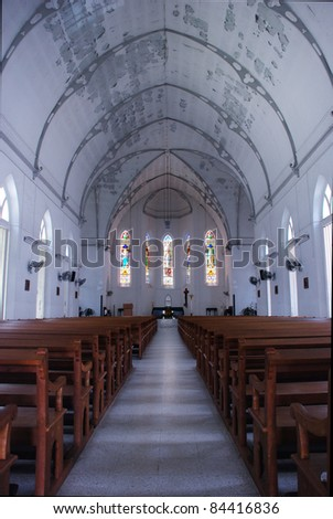 Inside White Cathedral - stock photo