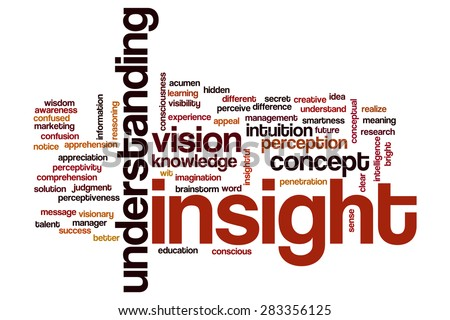 Insight word cloud - stock photo