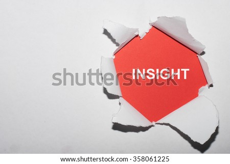 INSIGHT written behind a torn paper - stock photo