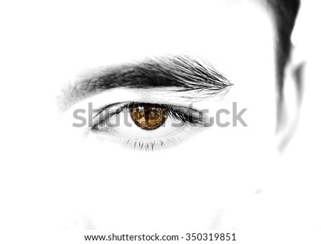 insightful look brown eyes boy