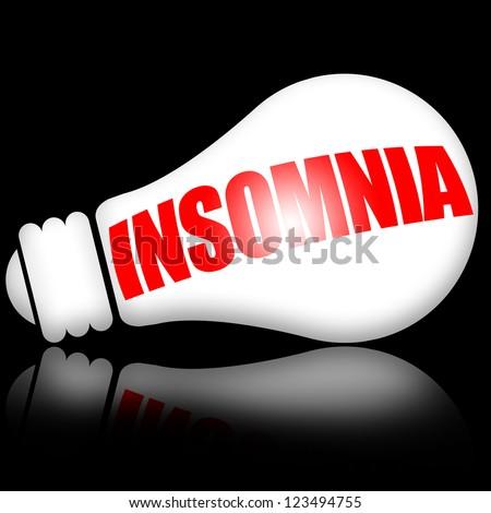 Insomnia concept - stock photo