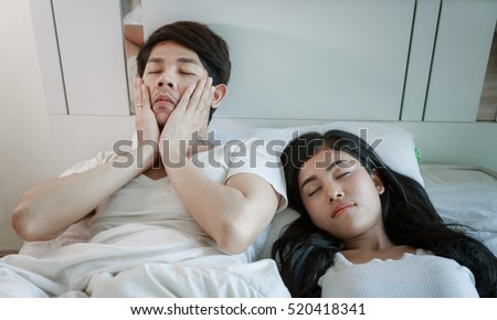 Insomnia Man With Girlfriend On Bed