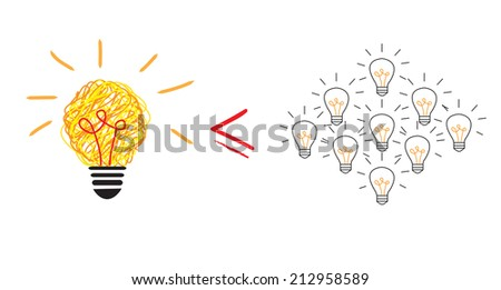 Inspiration concept  for good idea - stock photo